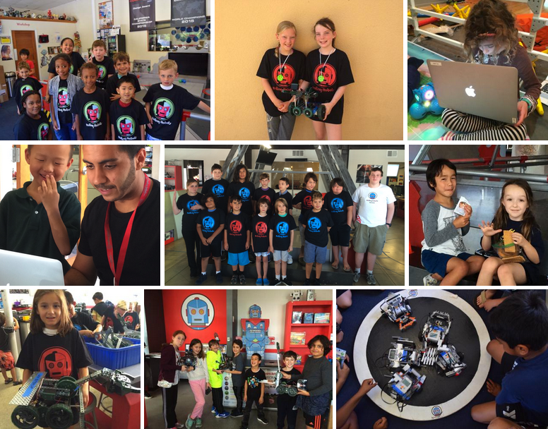 Students at Rolling Robots Summer Camp