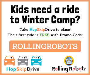 Take Hop Skip Drive to Rolling Robots Winter Camp