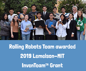 We are a 2018 Lemelson-MIT InvenTeam Grant Recipient