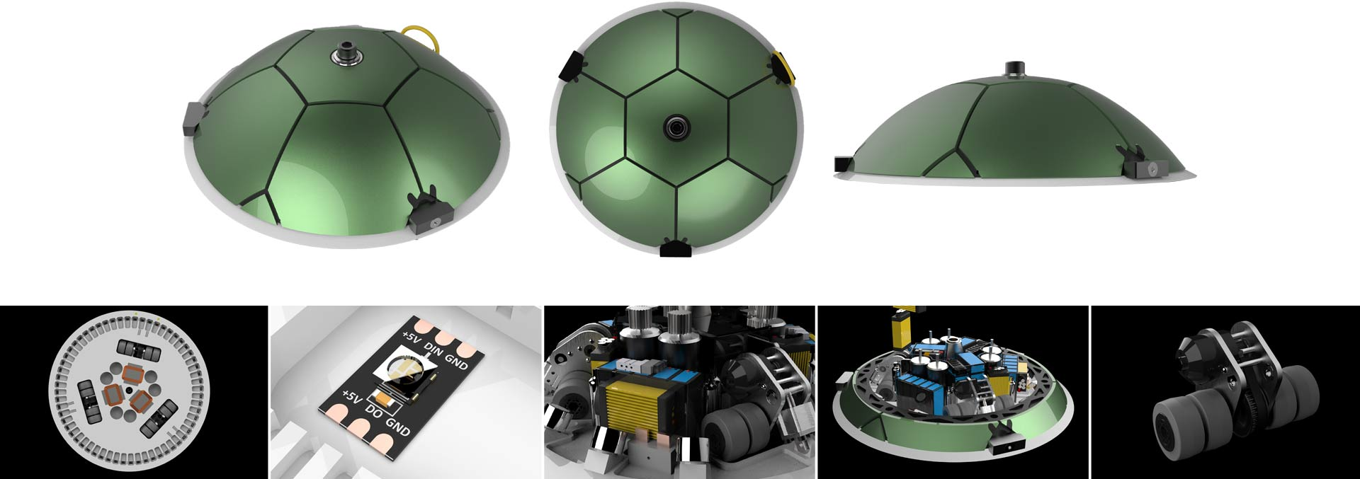 Detailed images of the robot and its components